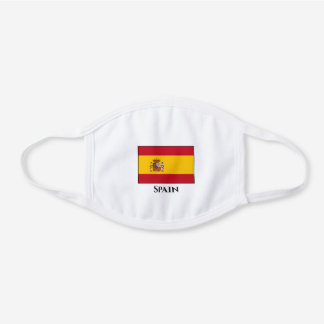 Spain (Spanish) Flag White Cotton Face Mask