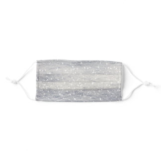 Sparkling Snow with White Splotches Name Face Mask