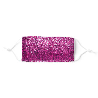 Sparkly Girly Sequin Glitter Pink Fuschia Adult Cloth Face Mask