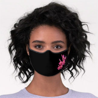Special Occasion Pink Orchids Premium Face Mask