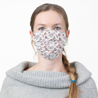 Spicy Winter Theme Pattern Adult Cloth Face Mask