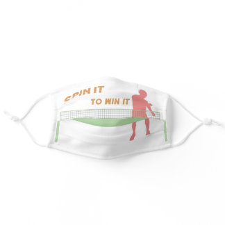 Spin it to win it funny cool ping pong adult cloth face mask