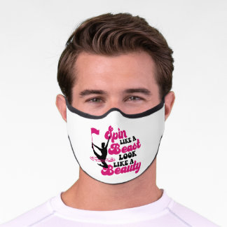 Spin Like A Beast Color Guard Marching Band Premium Face Mask