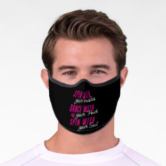 Spin With Your Muscles Color Guard Marching Band Premium Face Mask