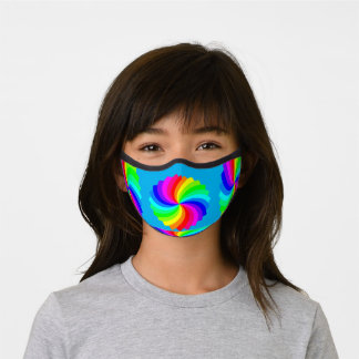 spinning rainbows premium face mask