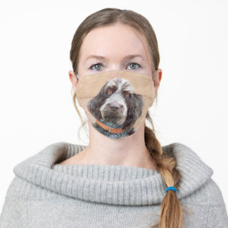 Spinone Italiano Painting - Cute Original Dog Art Adult Cloth Face Mask