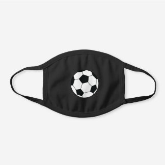 Sports Soccer Athletic Black Cotton Face Mask