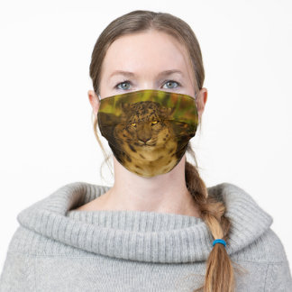 Spotted Leopard. Adult Cloth Face Mask