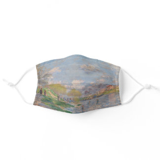 Spring by the Seine by Monet Impressionist Adult Cloth Face Mask