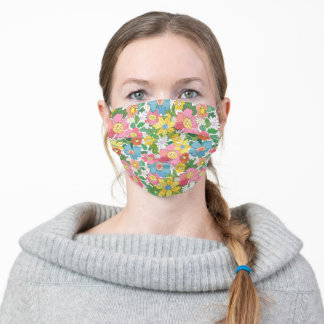 Spring Flowers Adult Cloth Face Mask