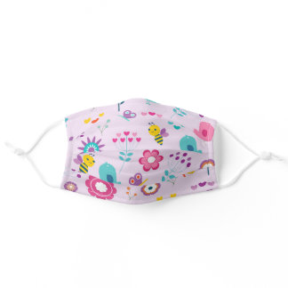 Spring Flowers and Bees Adult Cloth Face Mask