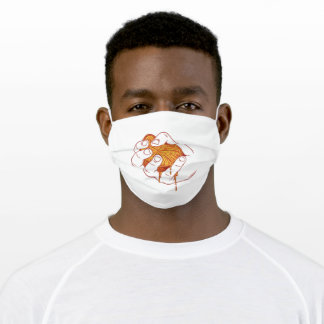 Squeezed orange adult cloth face mask