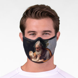 St Joseph and Jesus Catholic Religious Vintage Premium Face Mask
