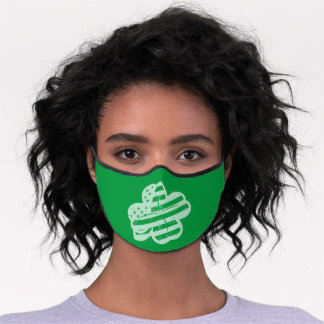 St. Patrick's Day American Style Premium Face Mask