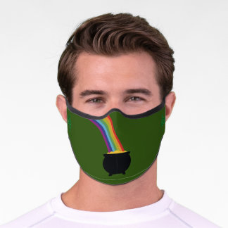 St. Patrick's Day  Pot of gold Face mask