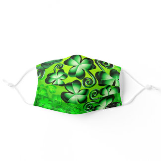 St. Patrick's Day Shamrock Green Clover Kids & Adult Cloth Face Mask