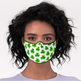 St. Patrick's Day Shamrock Premium Face Mask