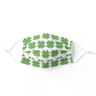 St Patrick's Day Shamrocks in Kids & Adult Cloth Face Mask