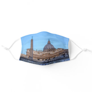 St. Peter's Square in Vatican City - Rome, Italy Adult Cloth Face Mask