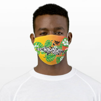 St. Thomas, U.S. Virgin islands, Rock City Adult Cloth Face Mask