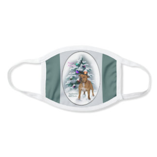 Staffordshire Bull Terrier Christmas Face Mask