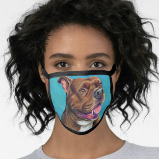 Staffordshire Bull Terrier Dog Face Mask