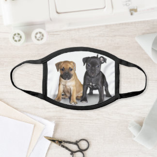 Staffordshire Terrier puppies face mask