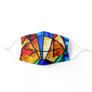 Stained Glass Abstract 2 Adult Cloth Face Mask