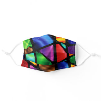 Stained Glass Abstract Adult Cloth Face Mask