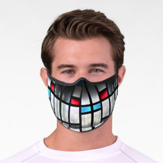 Stained Glass Photo Adult Premium Face Mask