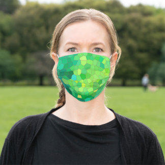Stained Glass Reptile Skin Pattern Adult Cloth Face Mask