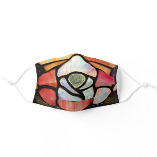 Stained Glass Window Opal Pink Amber Adult Cloth Face Mask