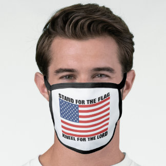 STAND FOR THE FLAG KNEEL FOR THE LORD MASK