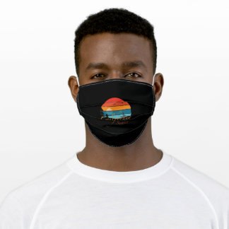 Stand Up Paddling Sunset California Adult Cloth Face Mask