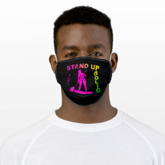 Stand Up Paddling Woman Rowing Adult Cloth Face Mask