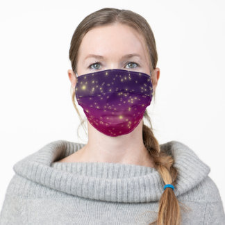Starry night. adult cloth face mask