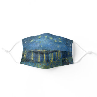Starry Night Over the Rhône Adult Cloth Face Mask