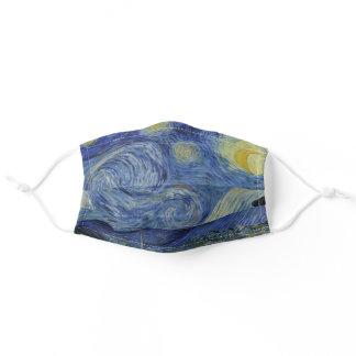 Starry Night Vincent van Gogh Fine Art Painting Adult Cloth Face Mask