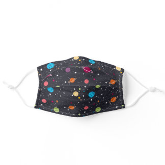 starry outer space adult cloth face mask
