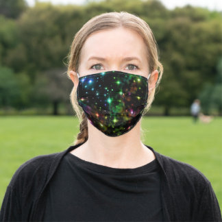 Starry Skies Colorful Fantasy Universe Adult Cloth Face Mask