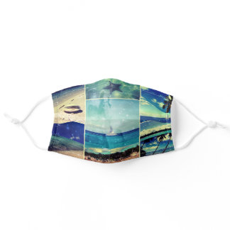 Starry starry Caribbean Night Photo Collage Adult Cloth Face Mask
