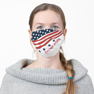 STARS AND STRIPES TRUMP 2020 ADULT CLOTH FACE MASK