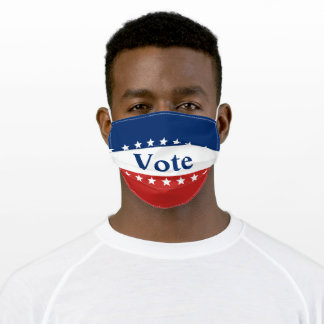 Stars on Red White and Blue Vote Adult Cloth Face Mask