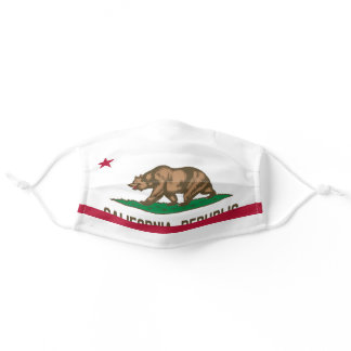 State Flag of California Adult Cloth Face Mask