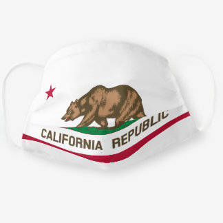 State Flag of California Cloth Face Mask