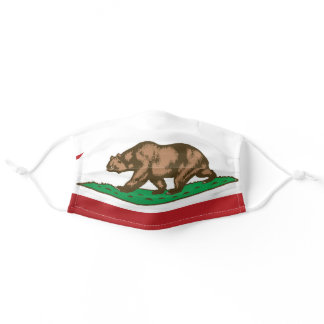 State Flag of California, USA Adult Cloth Face Mask