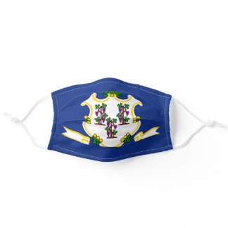 State Flag of Connecticut Adult Cloth Face Mask