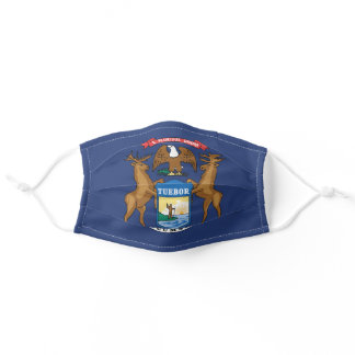 State Flag of Michigan, USA Adult Cloth Face Mask