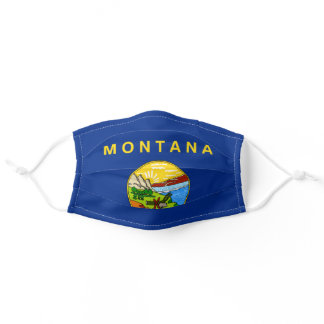 State Flag of Montana Adult Cloth Face Mask