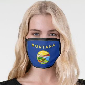 State Flag of Montana Face Mask